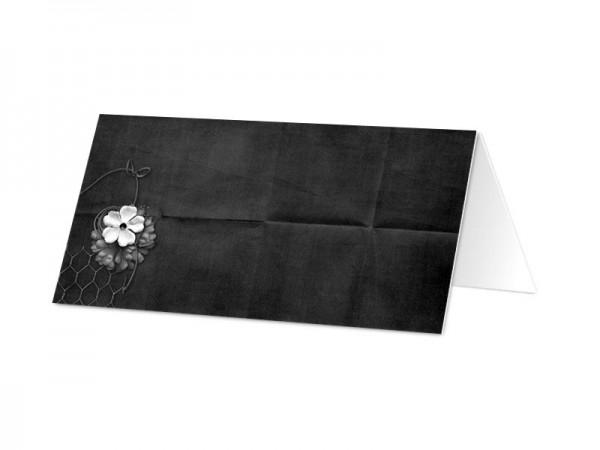 Marque-place mariage - En noir et blanc