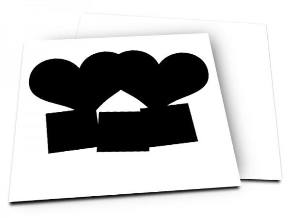 Pele-Mele - Pêle-mêle style 28: 5 photos coeurs et carrées
