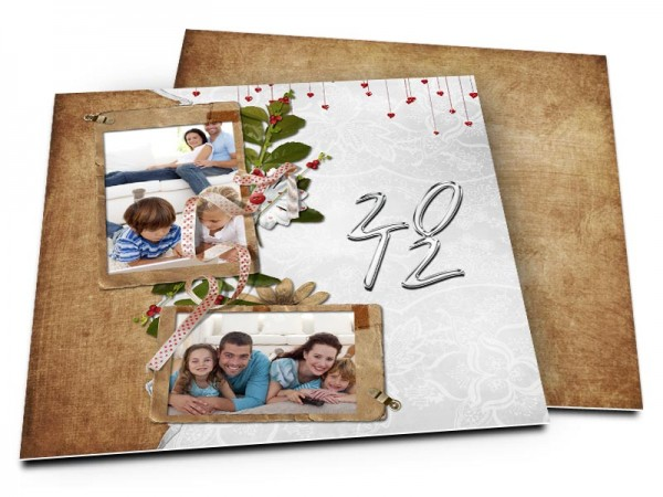 Cartes de voeux famille - Une pluie d'amour
