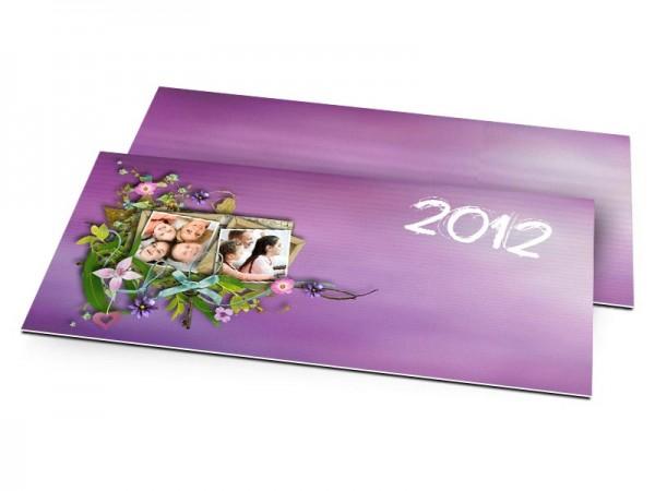 Cartes de voeux famille - Harmonie florale