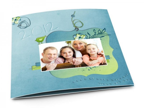 Cartes de voeux famille - Composition enfantine