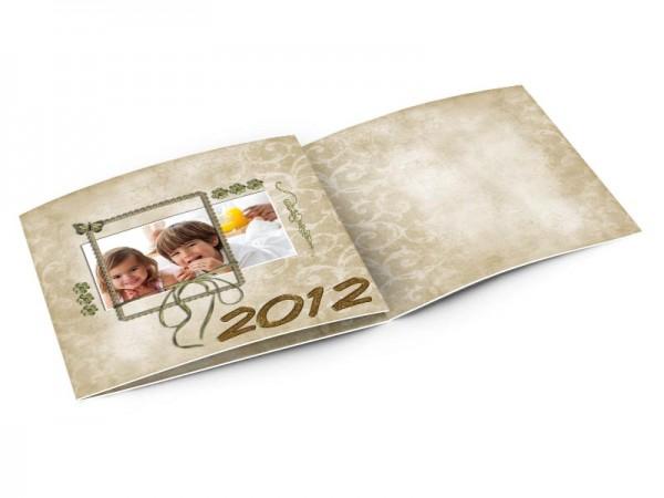 Cartes de voeux famille - Or et tradition