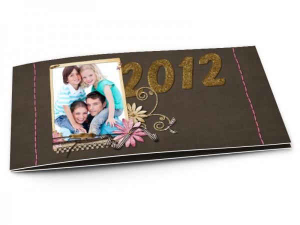 Cartes de voeux famille - Or et chocolat