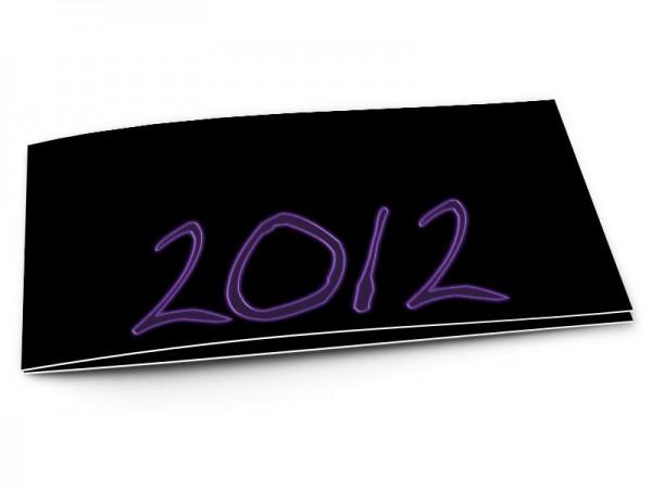 Cartes de voeux entreprise - Néons violets