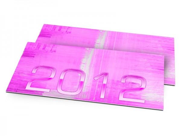 Cartes de voeux entreprise - Pink folie