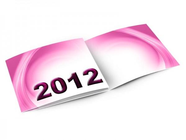 Cartes de voeux entreprise - Lueur rose