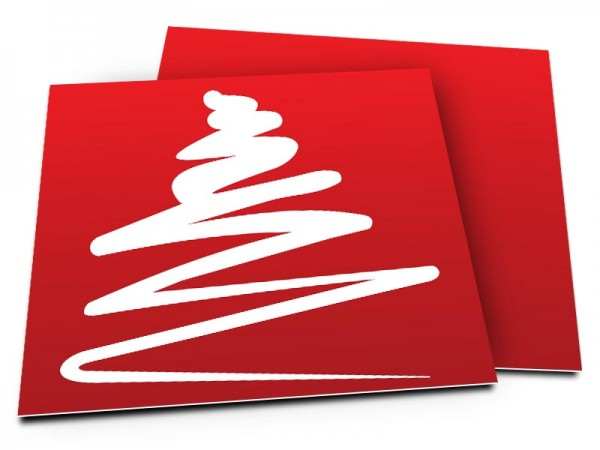 Cartes de voeux entreprise - Sapin
